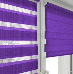 Рулонные шторы день-ночь пурпурные